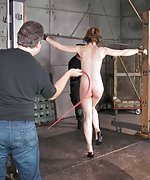 Tied naked and spanked for her birthday