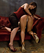 Jade tied up and dominated in lesbian bdsm