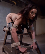 Her first lesbian bondage experience