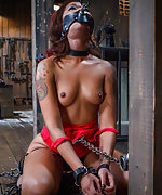 Turned into a fuck doll, tormented, bound in brutal bondage