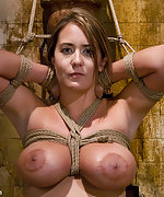 Gorgeous slave tits teased and trained