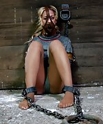 Chained, gagged, straight-jacketed and terrified
