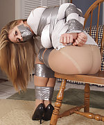Tightly bound and gagged with duct tape