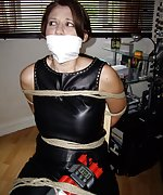 Glamour models tightly tied and gagged