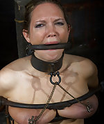 Locked, chained, tits clamped, strapped and dildoed