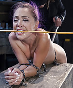 Kristina is locked, caged, gagged and dildoed