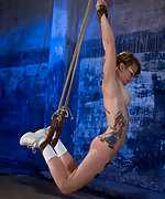 Chained in the basement, suspended and vibed