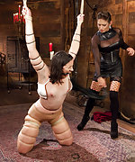 Pain slut bound and pushed to her limits