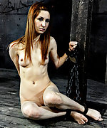 Tied and fucked with an electrified probe