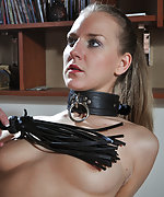 Cutie gets pegged, whipped, used and fucked