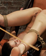 Tied in very humiliating position, caned and vibed