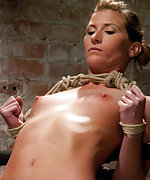 Bound spread eagle, pegged and vibed to cum
