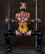 Felony bound in cruel metal and ballet boots
