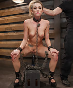 Cuffed, chained, roped, pegged, trained with dildo
