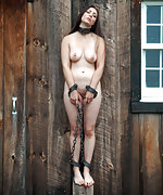 Cuffed, trained with cold and water, caned and whipped