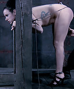 Fixed with stocks, used, caned and dildoed