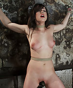 Beautiful girl next door is bound spread and helpless