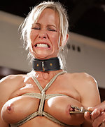 Domestic milf gets roped, trained, whipped and dildoed