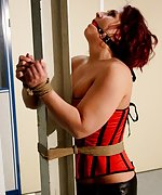 Rani is pole-tied, ball-gagged, ass-slapped