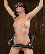Naked, cuffed, blindfolded and vibed