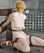 Two models cuffed, strapped, humiliatingly trained