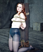Redhead gets roped, trained and humiliated