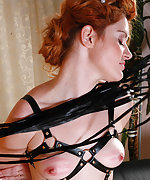 Sexy slavegirl trained, roped and waxed