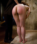 Pretty slavegirl stripped and caned