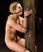 Brutal devices, metal straps, pile driver, whip and dildo
