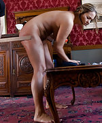 Naked, trained, caned and used