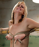 Roped, spanked and trained by sadistic couple