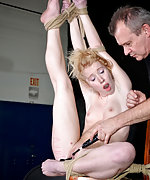 Roped, hogtied, vibed and face fucked